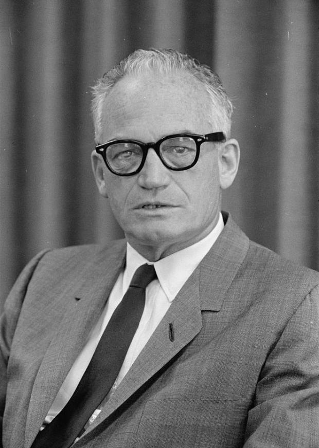 Of course Goldwater was fascinated with aliens. When you lose elections as bad as he did, you'll take votes any place you can find them, even if they come from other planets.